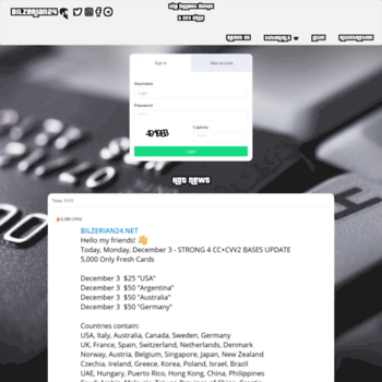 bilzerian24 net at WI  Buy Dumps Shop Online | Buy CC+CVV2