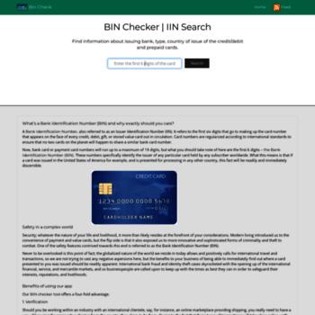 bincheck org at WI  BIN Checker | IIN Lookup | BinCheck org