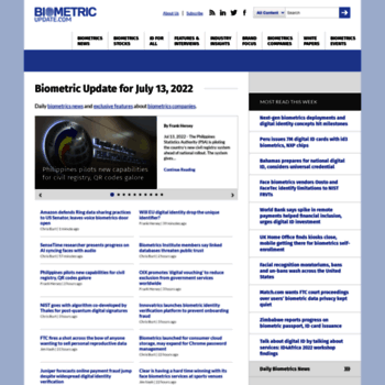 biometricupdate com at WI  Biometric News   Biometric Articles