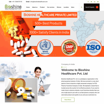 Bioshinehealthcare.co.in thumbnail