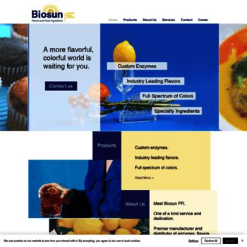 biosunffi com at WI  Biosun FFI | Tampa, FL | Flavors & Food