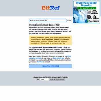 bitref com at WI  Check Bitcoin Wallet Address Balance