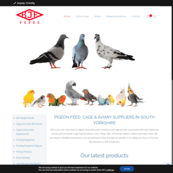bjffeeds co uk at WI  BJF Feeds | Animal and Pigeon feeds