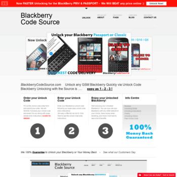 blackberrycodesource com at WI  Unlock Blackberry