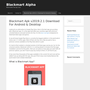 blackmartalphaapp com at WI  Coming Soon