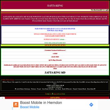 blacksattamd net at WI  Satta King SattaKing Satta Company