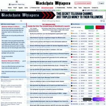 blockchainwhispers com at WI  BlockchainWhispers Crypto Signals & News