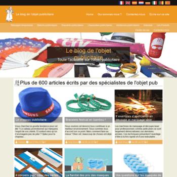 e7dc58ed29b6d blog-objets-publicitaires.fr at WI. Le blog du marché de l'objet ...
