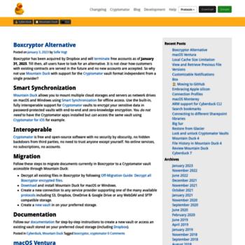 blog cyberduck io at WI  Blog | Libre FTP, SFTP, WebDAV, S3