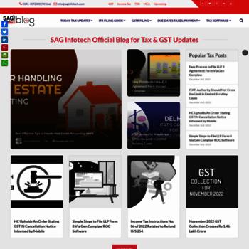 blog saginfotech com at WI  SAG Infotech Official Taxation (GST