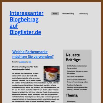 Bloglister.de thumbnail