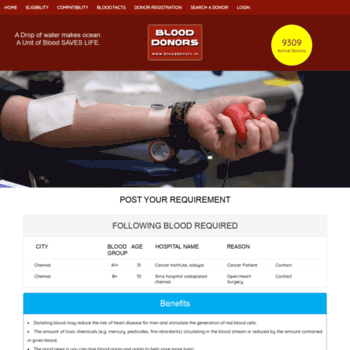 Blooddonors.in thumbnail