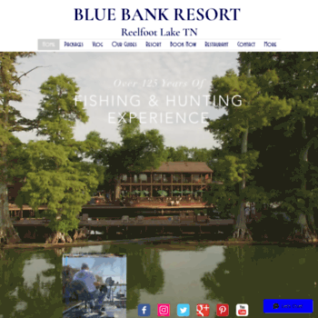 bluebankresort com at WI  Blue Bank Resort on Reelfoot Lake