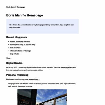 bmannconsulting com at WI  B  Mann Consulting – Boris Mann