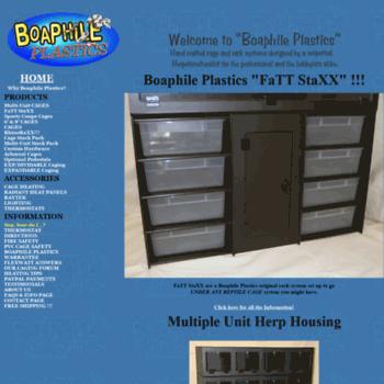 boaphileplastics com at WI  Plastic Reptile Cages, Tanks and Racks