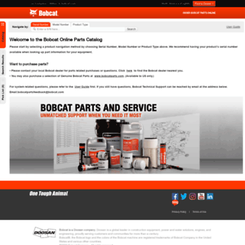 Bobcat Parts Online >> Bobcatpartsonline Com At Wi Bobcat Genuine Parts Catalog Official