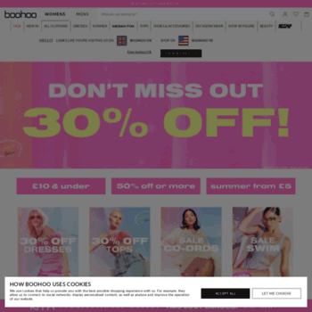 at WI. boohoo | Womens & Mens Clothes | Shop