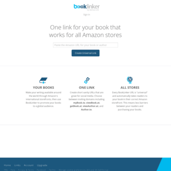 booklinker net at WI  Booklinker: Use one free link to boost
