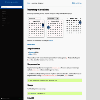 bootstrap-datepicker readthedocs io at WI  bootstrap