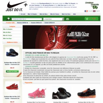 Boutiqueniketn.fr thumbnail