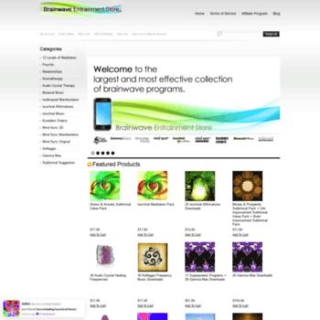brainwaveentrainmentstore net at WI  Brainwave Entrainment Store
