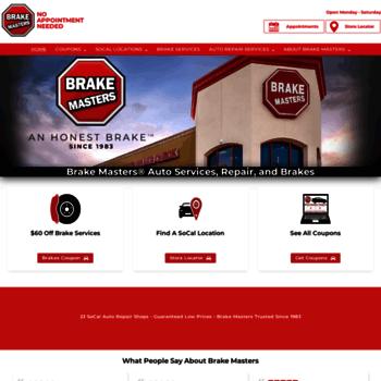 Brake Masters Coupons >> Brakemasterssocal Com At Wi Brake Masters Socal Brake