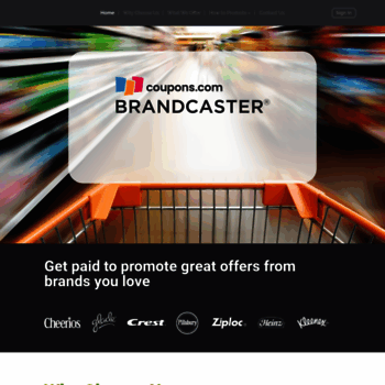 Brandcaster.coupons.com thumbnail