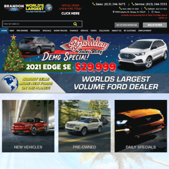 Ford Dealership Tampa >> Brandonford Com At Wi Ford Dealership Tampa Fl Used Cars