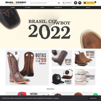 ab17ebdc brasilcowboy.com.br at WI. Sua loja country 24 horas | Brasil Cowboy