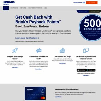 brinksprepaidmastercard com at WI  Brink's Prepaid Mastercard