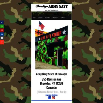 81ea090c70784 brooklynarmynavy.com at WI. Brooklyn Army Navy, Camo Clothing ...