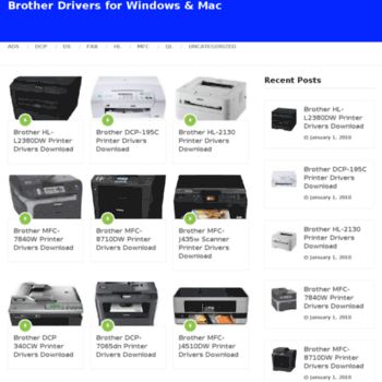 Brother printer driver for mac download   Brother Printer