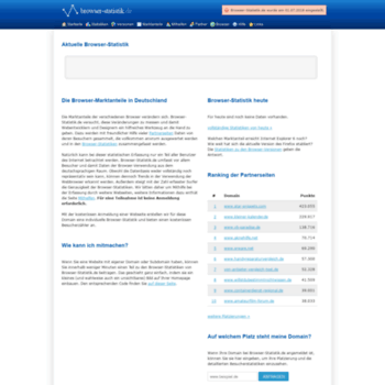 Browser-statistik.de thumbnail