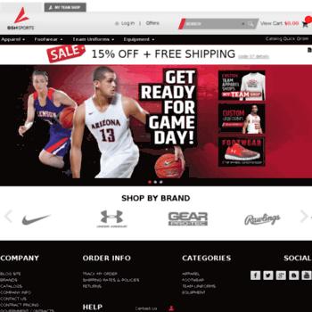 49a0ec0ebf1 bsnsports.com at WI. Sports Apparel and Equipment - Team Uniforms ...