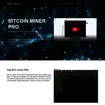 btc-miner net at WI  Very Fast Bitcoin mining software for Windows