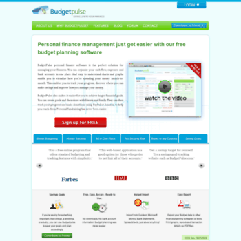 budgetpulse com at WI  Free Personal Finance Software for