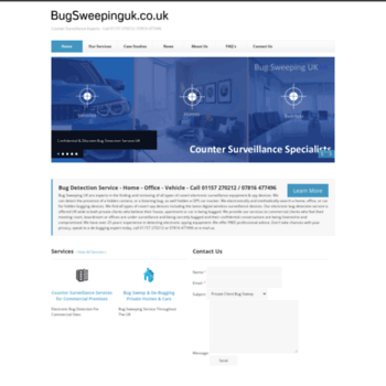 Bugsweepinguk.co.uk thumbnail