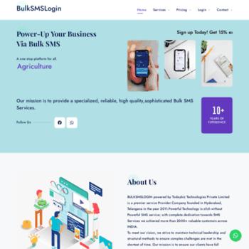 bulksmslogin com at WI  BULKSMSLOGIN COM – Bulk SMS Providers