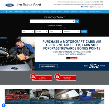 Jim Burke Ford Bakersfield >> Burkeauto Com At Wi Ford Dealer In Bakersfield Ca Used