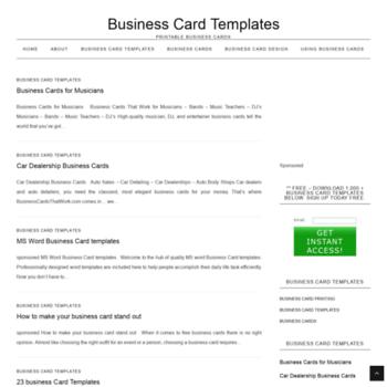 Businesscardstemplates.org thumbnail