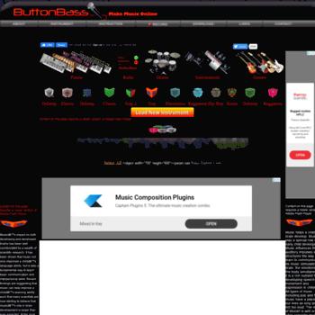buttonbeats com at WI  ButtonBass Make Music online  Play the