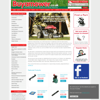 buyamower co uk at WI  Garden Machinery Equipment Tools & Parts for