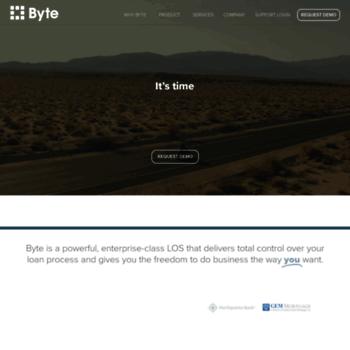 bytesoftware com at WI  Byte Software – Mortgage Loan