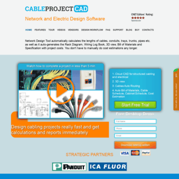 cableproject net at WI  Network Diagram Software for