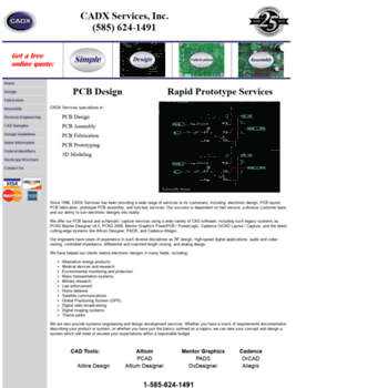 cadxservices com at WI  CADX Services: Printed Circuit Board