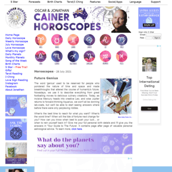 daily mail horoscopes cainer