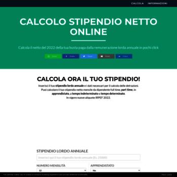 Calcolastipendionetto.it thumbnail