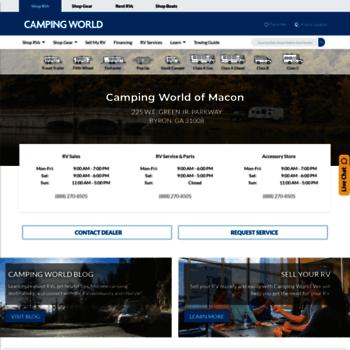 campingworldofmacon com at WI  Macon Camping World - RV