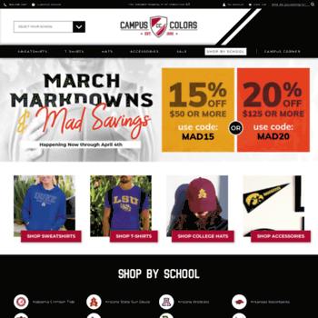 862919d0bc7 campuscolors.com at WI. Sports Apparel Shop - NCAA MLB NBA + More ...