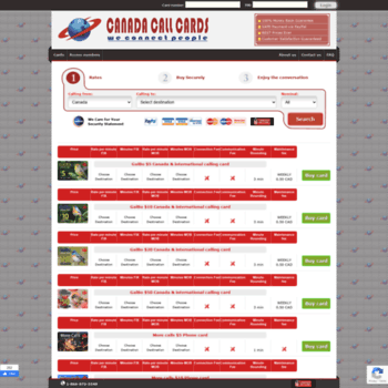Canadacallcards.ca thumbnail